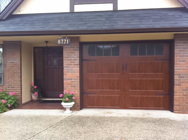 Faux wood garage doors for Clopay steel garage doors