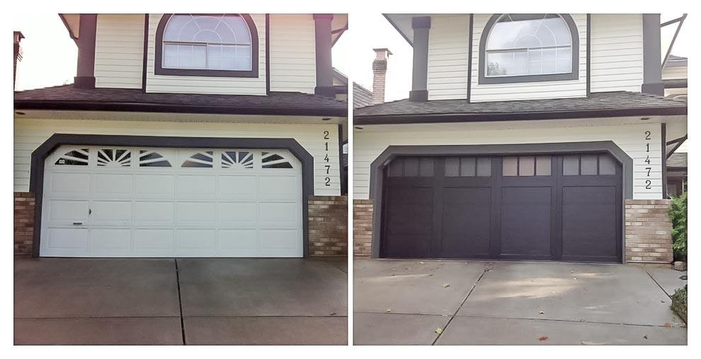 New custom garage doors vancouver homeowner came to us wanting to install a modern garage door the consultation resulted in choosing the clean lined design of this coachman door by clopay solutioingenieria Choice Image