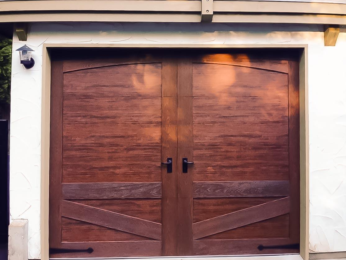 Faux wood garage doors for Faux wood doors