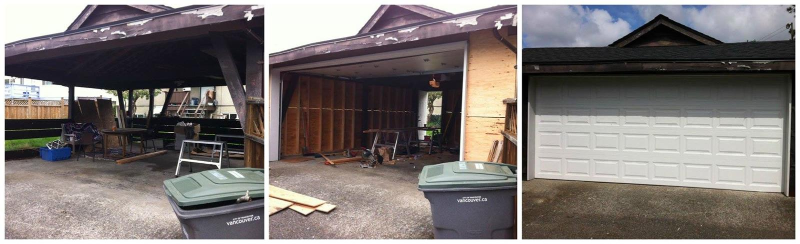 enclosing a carport to make a garage